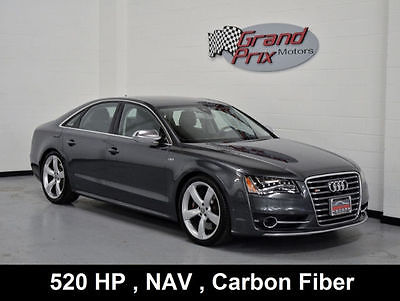 2013 Audi S8 2013 S8 Driver Assistance Package Night Vision Assistant Lane Assist 21 Inch Whe