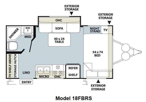 2012 Forest River Rv Flagstaff Micro Lite 18FBRS