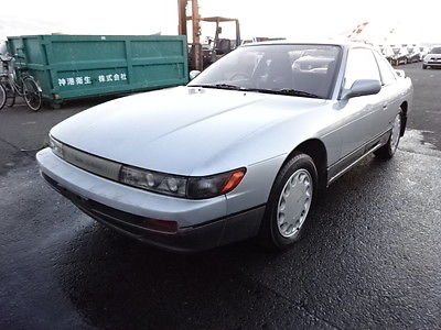 1989 Nissan 240SX Silvia 1989 Nissan Silvia Qs Silver TWO TONE CA18de JDM RHD S13 240sx Coupe
