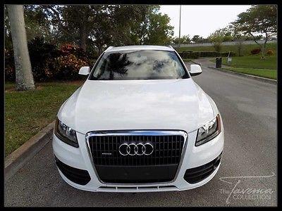 2012 Audi Q5 2012 Q5 IBIS WHITE AUDI MMI LEATHER SEATS BURL WALNUT TRIM XENON FL