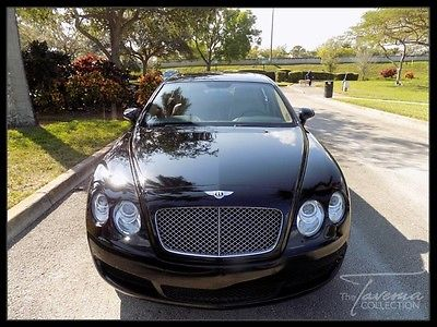 2008 Bentley Continental Flying Spur Flying Spur Sedan 4-Door 08 FLYING SPUR CLEAN CARFAX NAVIGATION CHROME 7 SPOKE WHEELS COOLED SEATS FL