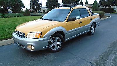 2003 Subaru Baja SPORT 2003 Subaru Baja Sport_ AWD