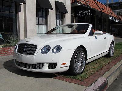 2011 Bentley Continental GT GTC Speed Convertible 2-Door 2011 Bentley GTC Speed, 1-Owner Carfax guarantee, Bentley serviced