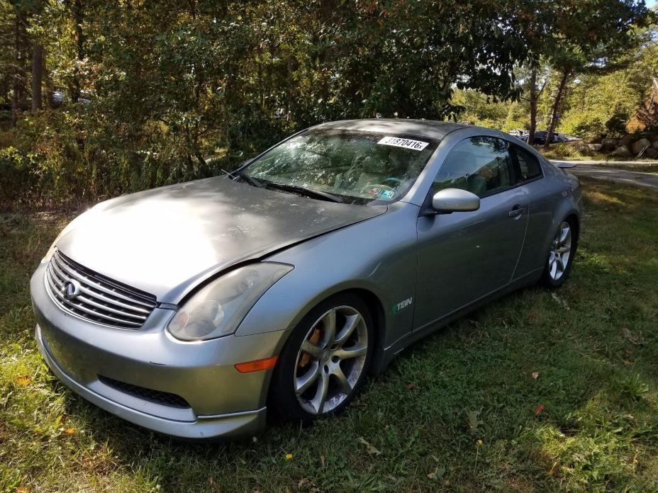 2004 Infiniti G35 Coupe 2004 INFINITY G35 TRACK EDITION COUPE + 6 Speed + 88K MILES + BREMBOS + EASY FIX