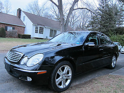 2005 Mercedes-Benz E-Class 4matic MERCEDES BENZ E500 4MATIC LOW MILEAGE TRIPLE BLACK MINOR WATER DAMAGE