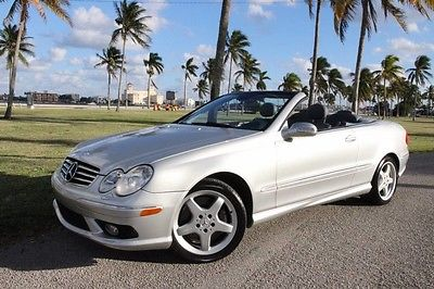 2004 Mercedes-Benz CLK-Class Base Convertible 2-Door 2004 mercedes benz clk 500 convertible nav hid lighting new top clean carfax