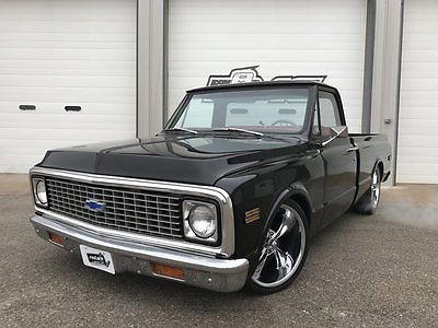 1972 Chevrolet C-10  1972 Chevy C-10 Pickup Shortbox Frame-Off 454 Red Leather