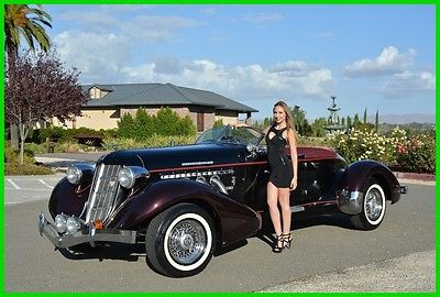 1934 Replica/Kit Makes Speedster AUBURN CORD DUESENBERG CO. ORIGINAL REPLICA 1936 AUBURN BOATTAIL SPEEDSTER RARE 5 SEAT BUILT IN '71 LOW MILES BEAUTIFUL COND