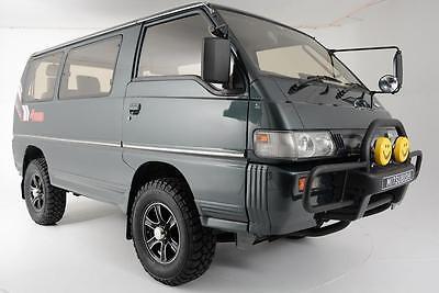 1991 Mitsubishi Delica -- 1991 Mitsubishi Delica 48,500 Miles Green Van 2.5 Automatic