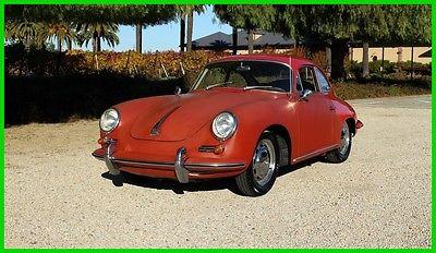 1964 Porsche 356 PORSCHE 356 1600 SC REUTTER COUPE 356SC REUTTER COUPE #MATCH SOLID ORIG FLOORS CA BLACK PLATE UNMOLESTED ORIGINAL