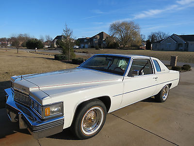 1978 Cadillac DeVille White Leather 1978 Cadillac Coupe DeVille 49k Original Miles!