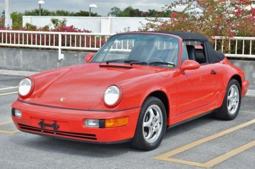 1992 Porsche 911 911 Carrera 2 Cabriolet 964  1 Owner - 100% original - Collector Qual - 56k mile - Manual - Mint Inside & Out