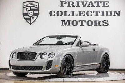 2011 Bentley Continental GT Supersports Convertible 2-Door 2011 Bentley Continental GT Supersports Low Miles Pristine Clean Carfax