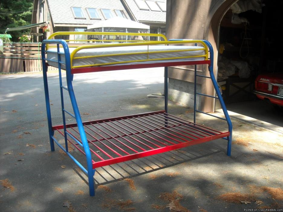 Red-White-& blue metal Bunk Bed/no mattress$