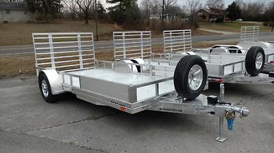 2017 Sundowner 14' All Aluminum ATV Utility Trailer with Removable Side Ramps