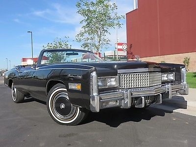 1975 Cadillac Eldorado Fleetwood 1975 Cadillac Eldorado Convertible, 500ci, Power Top, A/C, Fully Restored Low Mi