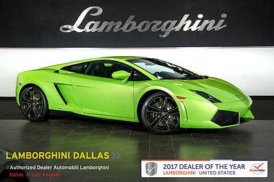 2013 Lamborghini Gallardo LP550-2 Coupe 2-Door VERDE ITHACA!+PERFORATED WHEEL+NAV+RR CAMERA+Q-CITURA+SHINY BLK APOLLO WHLS