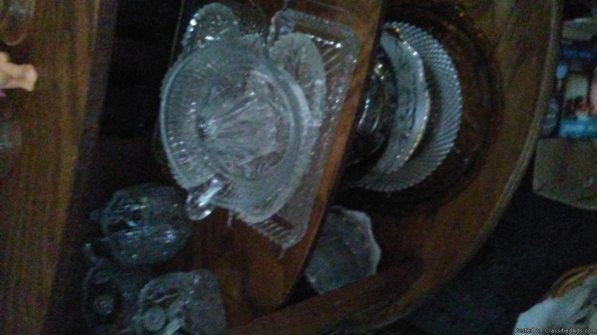 Crystal dishes & Curio cabinet