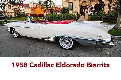 1958 Cadillac Eldorado Convertible 1958 cadillac eldorado biarritz convertible a real classic