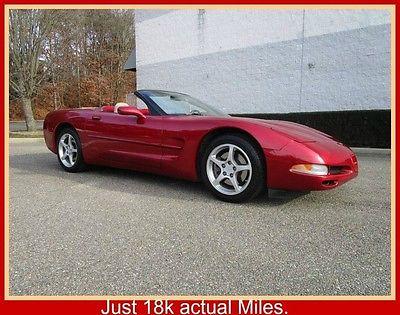 2000 Chevrolet Corvette Base Convertible 2-Door 00 Corvette Convertible Just 18k Miles Clean Fax Original Owner Mint