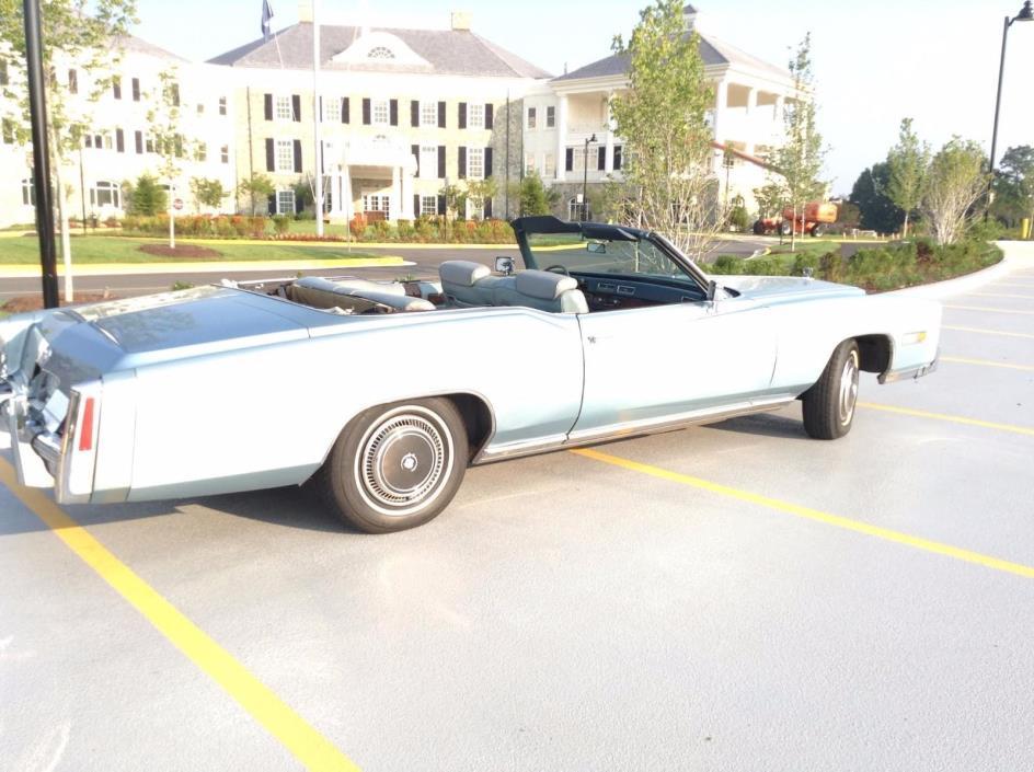 1976 Other Makes Eldorado Excellent 1976 Cadillac El Dorado Convertible