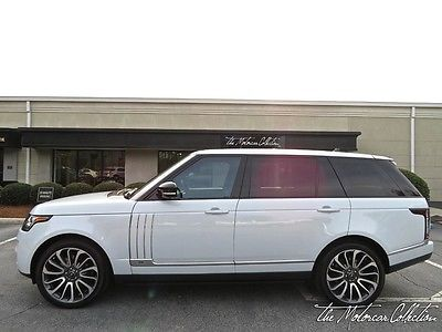 2016 Land Rover Range Rover  ULTRA RARE SVAUTOBIOGRAPHY! MSRP $205,590.00! CLEAN CARFAX CERTIFIED!
