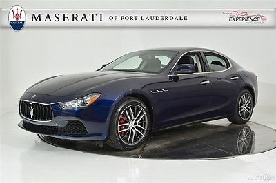 2016 Maserati Ghibli port Proteo Shift Paddles Inox Pedals Mica Paint Extended Leather Red Calipers