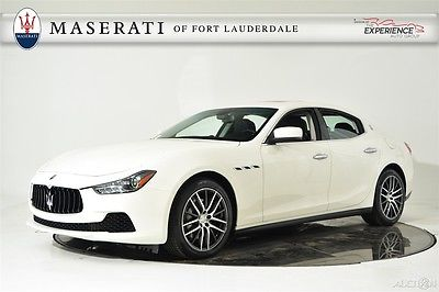 2016 Maserati Ghibli Contrast Stitching Proteo Sport Dark Mirror Trim Camera Navigation Bluetooth