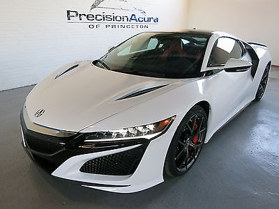 2017 Acura NSX Base Coupe 2-Door 2017 Acura NSX in 130R White with Red Semi-Analine Leather and Black Alcantara