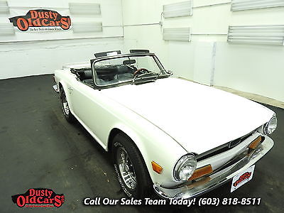 1973 Triumph TR-6 Runs Drives Body Int Vgood 2.5L I6 4 spd manual 1973 White Runs Drives Body Int Vgood 2.5L I6 4 spd manual!