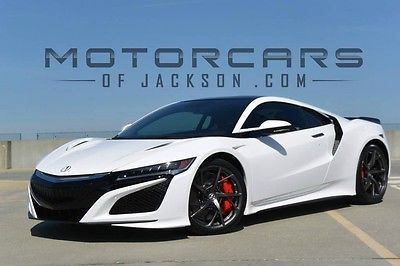 2017 Acura NSX  17 Acura NSX in stock White Red Carbon Fiber Technology Carbon Interior Spoiler