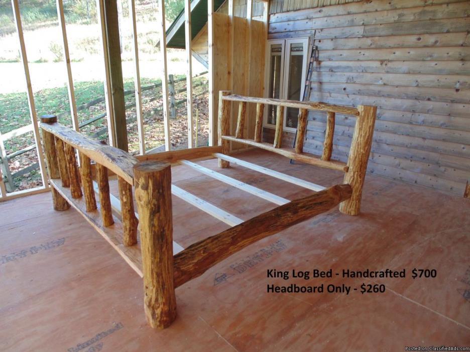 Handcrafted Log Beds