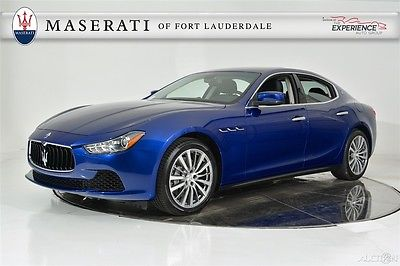 2016 Maserati Ghibli Extended Leather Contrast Stitching Mica Paint Camera Keyless Entry Navigation