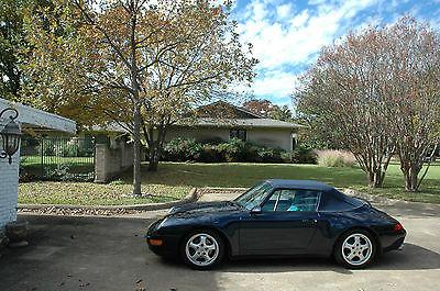 1995 Porsche 911 cabriolet 1995 Porsche 993 cabiolet, Dark blue met, ORIGINAL