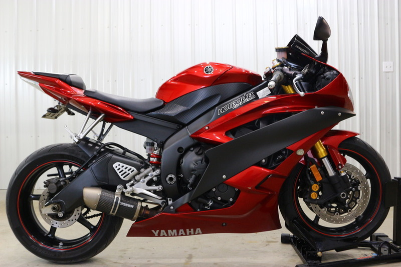 yamaha yzf r6 candy red motorcycles for sale. Black Bedroom Furniture Sets. Home Design Ideas