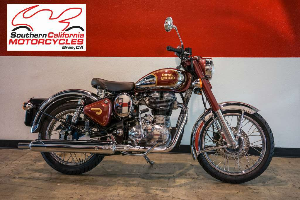 Royal Enfield Chrome Royal Maroon Motorcycles For Sale