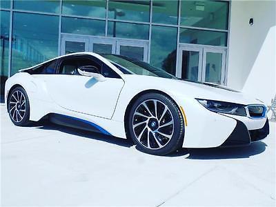 2016 BMW i8 -- 2016 BMW i8  4,332 Miles Crystal White Pearl Metallic w/BMW i Frozen Blue 2dr Ca