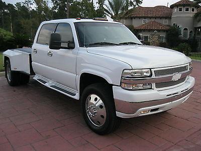 2001 Chevrolet Silverado 3500 LT 8.1L, Allison Auto, Crew Cab, Dually, Custom Bed & Stereo, 20