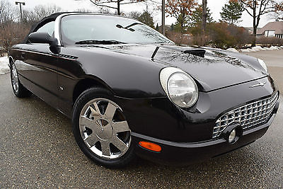 2003 Ford Thunderbird PREMIUM-EDITION Convertible 2-Door 2003 Ford Thunderbird Power Convertible 2-Door 3.9L/V8/Leather/6 CD/17