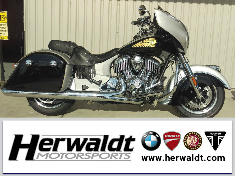 2017 Indian Chieftain Star Silver Over Thunder Black
