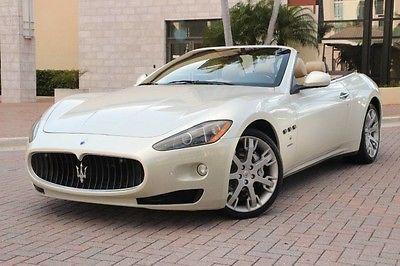 2011 Maserati Gran Turismo  2011 Maserati GranTurismo Convertible FUJI White! NO DAMAGE history!