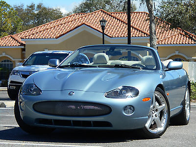 2005 Jaguar XKR XKR XKR CONVERTIBLE ZIRCON BLUE/IVORY 20'' PARIS, ADAPTIVE CRUISE!! GORGEOUS!!