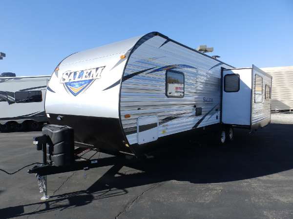 2017  Forest River  SALEM 27 RLSS  1 SLIDE  REAR LOUNGE  WALK AROUND QUEEN BED  LOUNGE RECLINERS  POWER AWNING  POWER STABILIZER JACKS