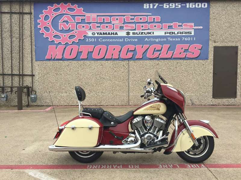 2015 Indian Chieftain Indian Red/Ivory Cream