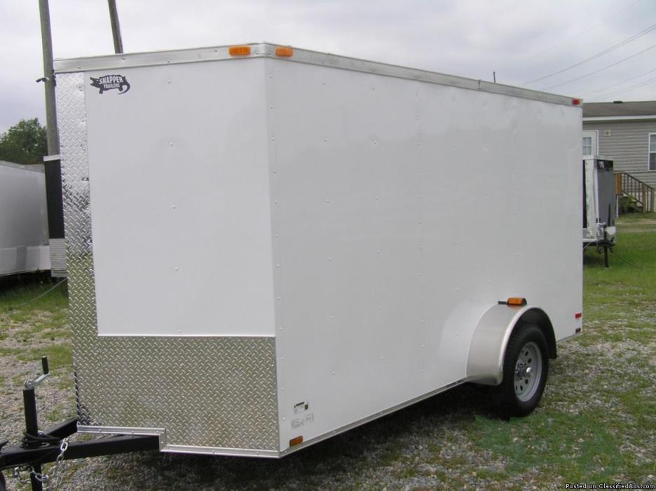 NEW Trailer 6 'x 12 w/Additional 3 in. Height! RV Side Door!