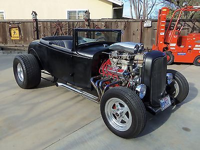 1931 Ford Model A Steel Body Hot Rod 1931 Ford Roadster Steel Body Roller Motor Aluminum Heads 1932 Grill Hot Rod SBC