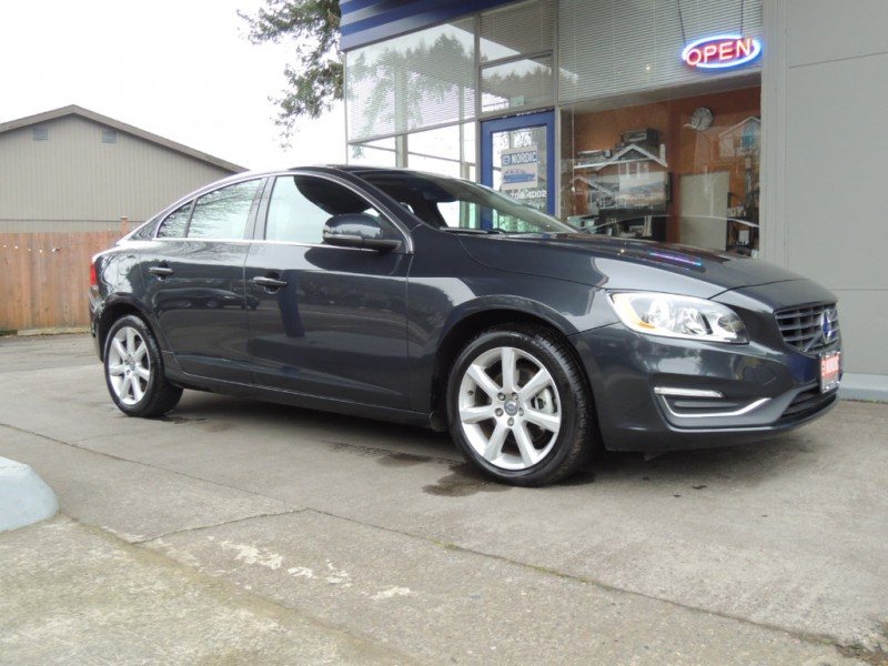 2016 Volvo S60 T5 Drive-E Premier, Savile Grey, Charcoal Heated Leather, Moonroof