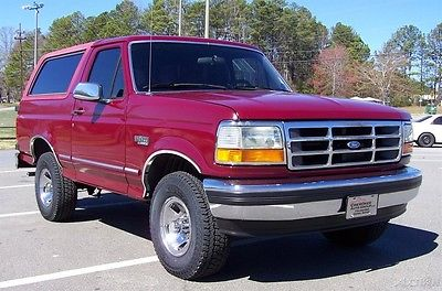 1993 Ford Bronco XLT 4X4 FUEL INJ 5.8L 351 A SHARP COLD AC WAGON CLEAN SOLID LOOKING 4WD CAPTINS CHAIRS NEW 31-10S ORG CONDTION WELL KEPT MACHINE