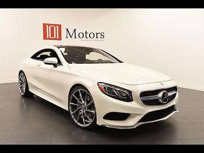 2015 Mercedes-Benz S-Class 4Matic Coupe 2-Door One Owner! 5200 Miles, Designo White, 22