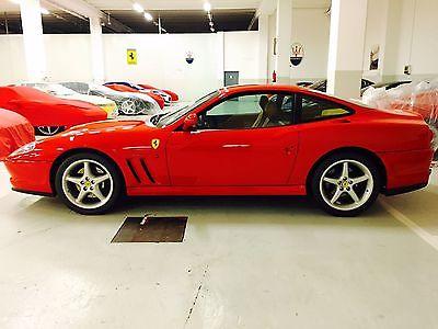 1200 Ferrari 550 2 DOOR 2000 FERRARI 550 MARANELLO ROSSO CORSA ON CREMA WITH MANUAL TRANSMISSION